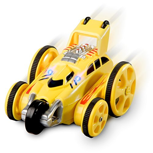 Force1 Remote Control Car Mini Toys - Rally Cat Mini RC Cars for Kids w/ LEDs, Off Road RC Car Tires for Stunt RC Car for Adults, Kids (Color May Vary)