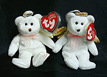 Image Unavailable. Image not available for. Color  TY Jingle Beanie Baby -  HALO the Angel Bear 1718519ce080