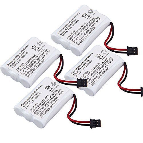 - TOPCHANCES 4 Pack 3.6V 800mAh Cordless Phone Replacement Battery for Uniden BT-446 TL-96402 TL-26402 CPH-488B CPH488 & DCT-646-2 DCT-6462 DCT-648-2 DCT-6482 DCT-746M DCT-746 DCT-746-2 DCT-7462