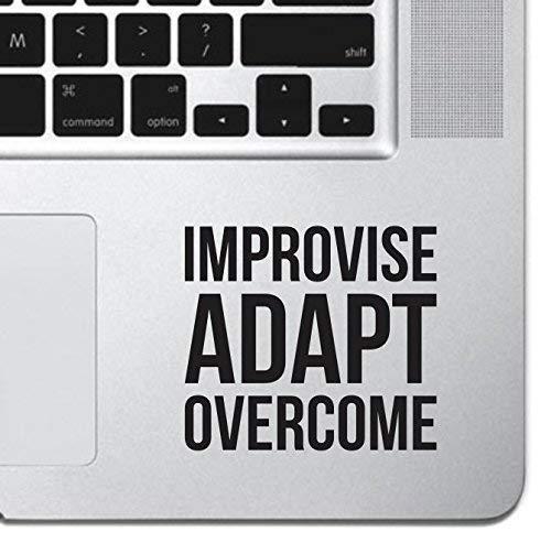 Improvise Adapt Overcome Macbook Sticker Decal MacBook Pro Decal Air 13 15 17 Keyboard Mousepad Trackpad Laptop Inspirational Sticker Motivational Decal USMC Slogan