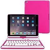 iPad Mini 4Retina 360° giratorio Keyboard Case, Snugg-& # 8482;-Ultra Slim Keyboard Cover Case con conectividad Bluetooth y garantía de por vida (Negro) para Apple iPad Mini 4Retina