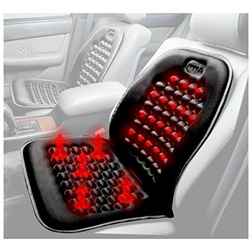 Black Heated Seat Cushion Heater & Warmer Massager With Therapeutic Magnets Cushion -