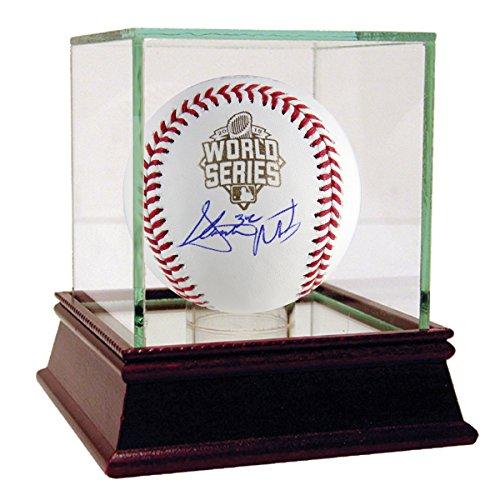 Steven Matz Autographed 2015 World Series Logo Baseball - Case is NOT - World Steiner Baseball Series