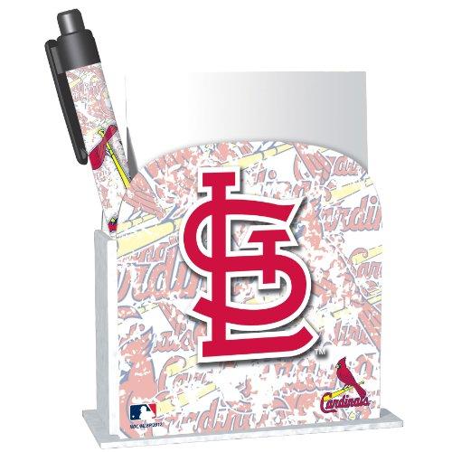 National Design St. Louis Cardinals Stationery Desk Caddy (11096-GEG) - Cardinals Memo Pad Holder