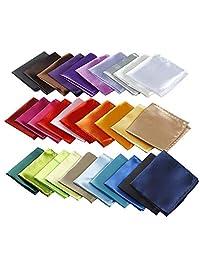 Pañuelo cuadrado de bolsillo para hombres (30 tipos de colores)