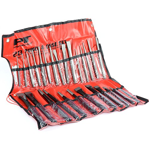 JEGS Performance Products W754 28-Piece Punch & Chisel Set Includes: 16-Piece Ch