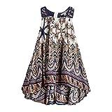 Kids Fashion world Bohemian Dresses for Girls Short Front Long Back Kids Jumper Dress National Print Size 4-5