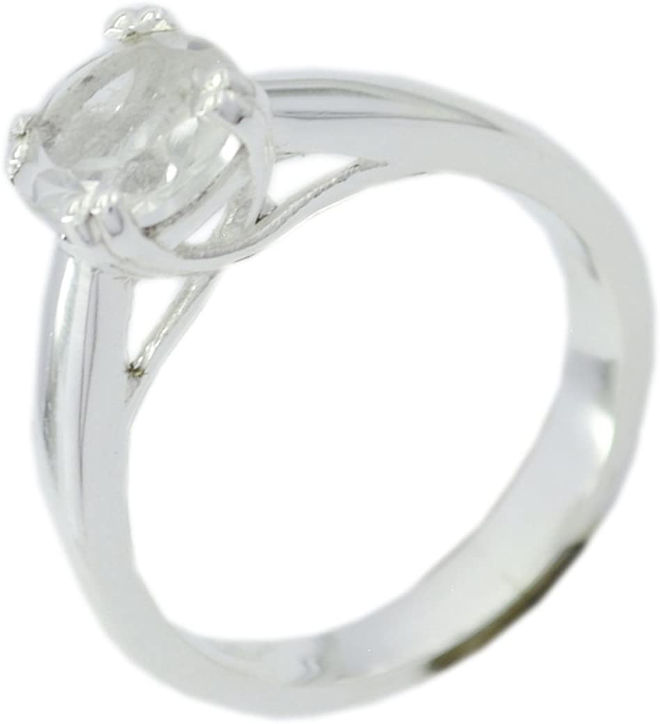 Gemsonclick Real Crystal Quartz Gemstone Mothers Rings Sterling Silver 925 Handcrafted Design Size 5-12