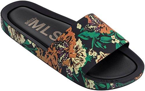 h Slides III, Black/Green, 7 B(M) US (Beach Slide)
