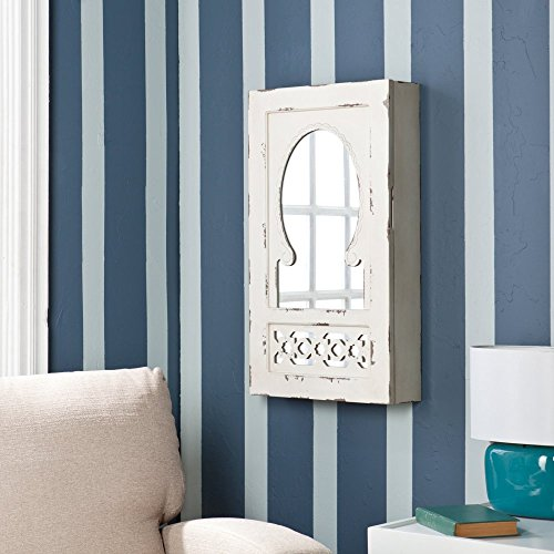 Southern Enterprises Dorian Shabby Chic Wall-Mount Jewelry Armoire -
