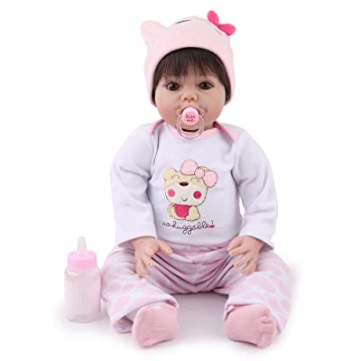 Kaydora Reborn Baby Doll Girl, 22 inch Soft Weighted Body, Cute Lifelike Handmade Silicone Doll: Toys & Games
