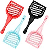 Pack of 4 Cat Litter Scoops with Reinforced Comfort Handles by Weebo Pets