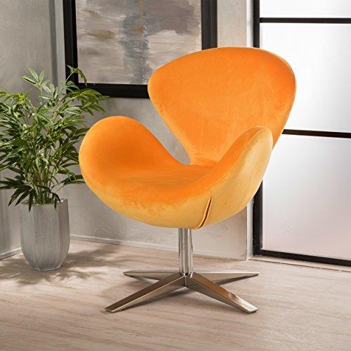 Christopher Knight Home 299464 Athena Velvet Accent Chair, Orange
