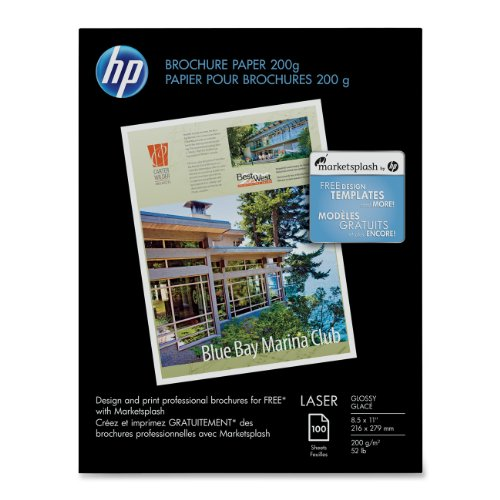 HP Laser Glossy Brochure Paper 100 Sheets 8.5 x 11 inch 200 (Hp Professional Photo)