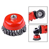 OFKPO 3-Inch Knotted Cup Brush Wire Wheels Premium Carbon Steel Brush Wire Wheels Brush For Rust Removal, Corrosion And Paint