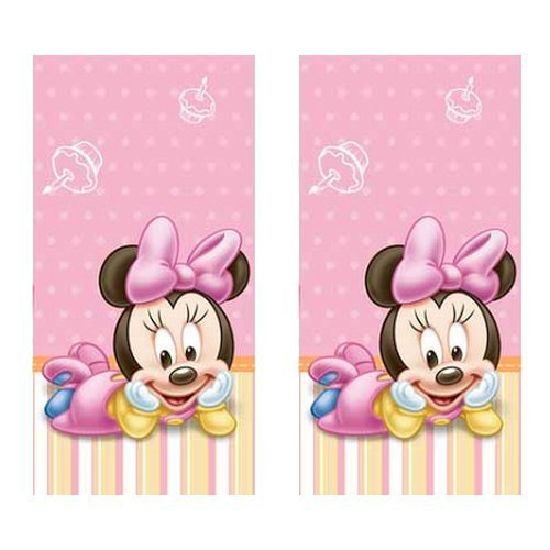 (Minnie Mouse 1st Birthday Party Plastic Tablecovers - 2 Pieces)