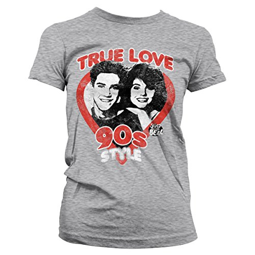 Camiseta Licenciado Style 90´s Heather By The Mujer Love Gris Oficialmente Bell True Saved 4qgvw