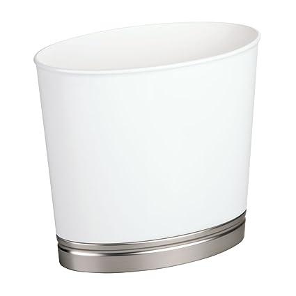 Amazoncom Interdesign York Plastic Oval Waste Basket Trash Can For