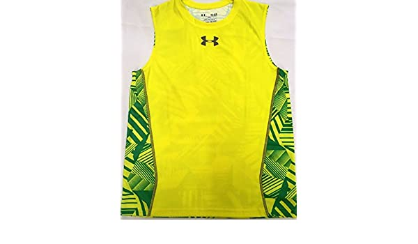 9f0fdb32baa90 Amazon.com   Under Armour Boy s Loose Fit sleeveless tank top T-Shirt    Sports   Outdoors