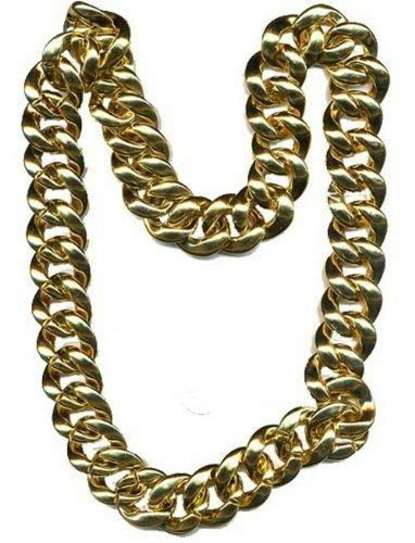[npchn (Gold) Pimp Necklace Mr. T Thick 36
