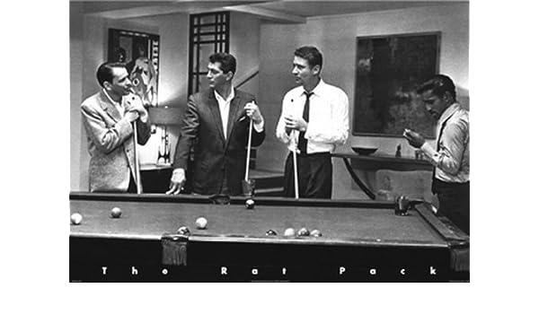 Rat Pack en el Billar (Rat Pack Pool). Poster grande de PAPEL ...