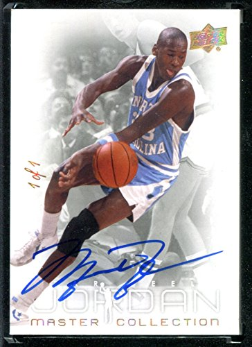 Michael Jordan North Carolina Jersey (Michael Jordan Master Collection Upper Deck #1 w/ MINT Auto Autograph UNC University of North Carolina #1/1)
