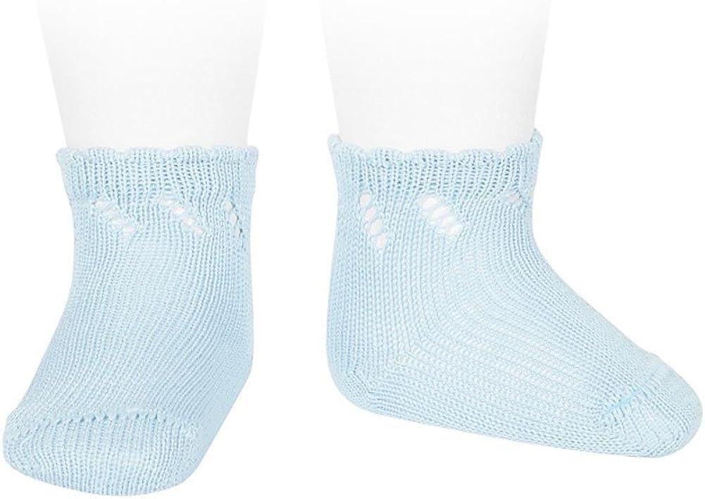 C/óndor Calcetines cortos de perl/é para beb/é con calado diagonal