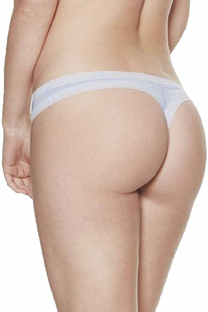 Blush The Micro Lace Trim Thong
