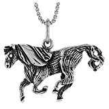 Sterling Silver Horse Pendant, 5/8 inch Tall