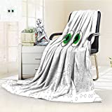 AmaPark Digital Printing Blanket High Tech Hardware Circuit Board Backdrop with Eye Forms Pearl Black Jade Green Summer Quilt Comforter