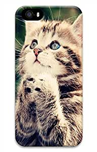 iPhone 5 5S Case Pray In A Lovely Cat 1 Funny Lovely Best Cool Customize iPhone 5 Cover