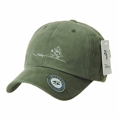 WITHMOONS Disney Mickey Mouse Baseball Cap Short Suede Cotton Hat CR1805 (Green)