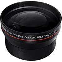 BiG DIGITAL 2.2X Telephoto Conversion Lens for Canon EOS Rebel SL1, T5i, T4i, T3, T3i, T1i, T2i, XSI, XS, XTI, XT, 1D C, 70D, 60D, 60Da, 50D, 40D, 30D, 20D, 10D, 5D, Mark II, III, 1D X, 1D C, 1D Mark IV, 1D(s)Mark III, 1D(s)Mark II(N) , 5D Mark 2, 5D Mark 3, 7D, 6D Digital SLR Cameras with a 18-55mm, 55-250mm, 24mm f2.8, 28mm f1.8, 50mm f1.4, 65mm f2.8, 85mm f1.8, 90mm f2.8, 100mm f2 & 100mm f2.8 lens