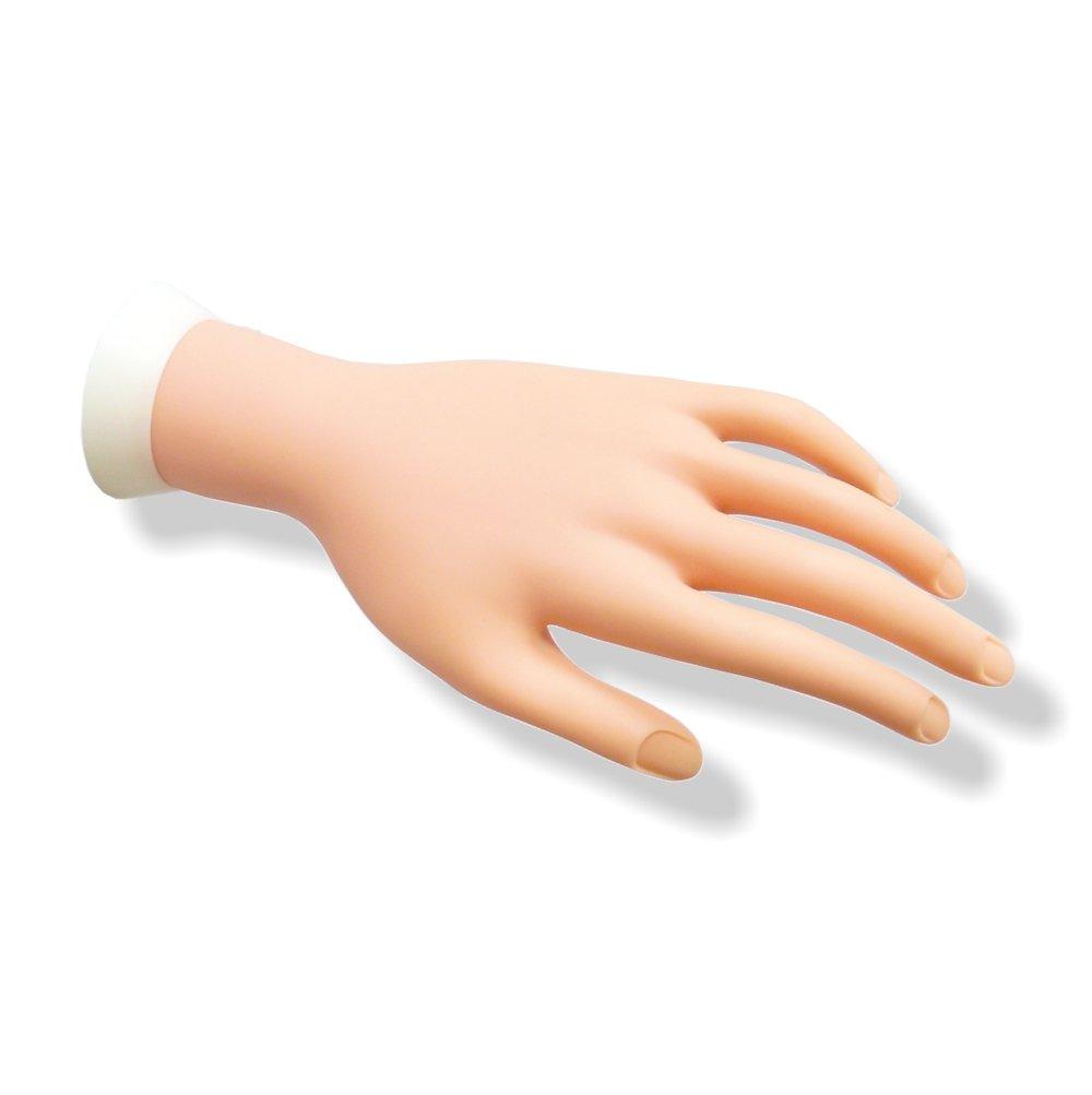 Übungshand mit beweglichen Fingern für Nagelmodellage & Nageldesign ...