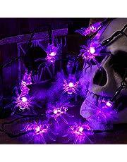 BrizLabs Spin Halloween lichtsnoer, 30 leds, paarse spin, lichtketting, werkt op batterijen, 3D-binnenverlichting voor Kerstmis, huis, entree, open haard, bruiloft, feest, oogstfeest, decoratie