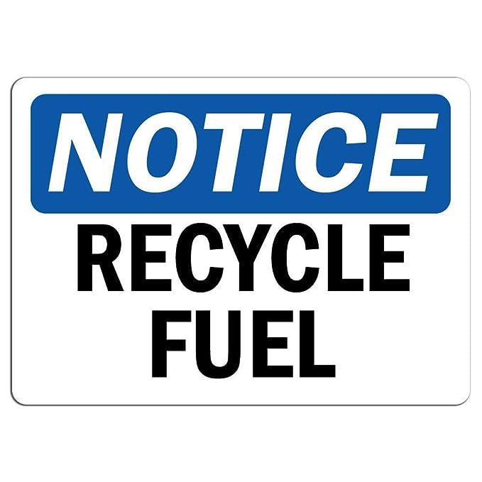 Aviso - Señal de RecycFuel de Metal, Letrero de ...