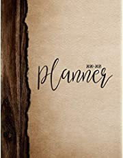 2020-2021 Planner: Jan 2020 - Dec 2021 2 Year Daily Weekly Monthly Calendar Planner W/ To Do List Academic Schedule Agenda Logbook Or Student & Teacher Organizer Journal Notebook, Appointment Business Planners W/ Holidays | Painted Wood