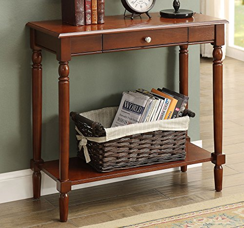 6042188ES French Country Hall Table with Drawer and Shelf (French Country One Drawer)