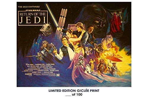 chronical collection Rare Poster Thick Star Wars: Return of The Jedi Vintage 1983 Movie Reprint #'d/100!! 12x12