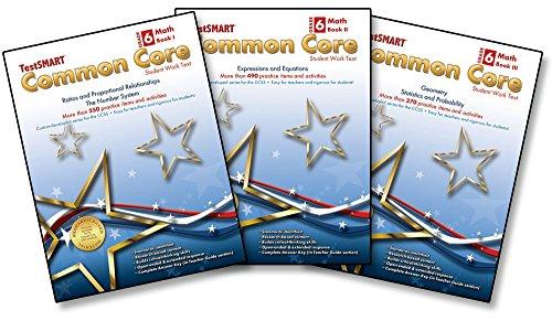 TestSMART® Common Core Mathematics Work Text, Grade 6 (Book I, II, & III ()