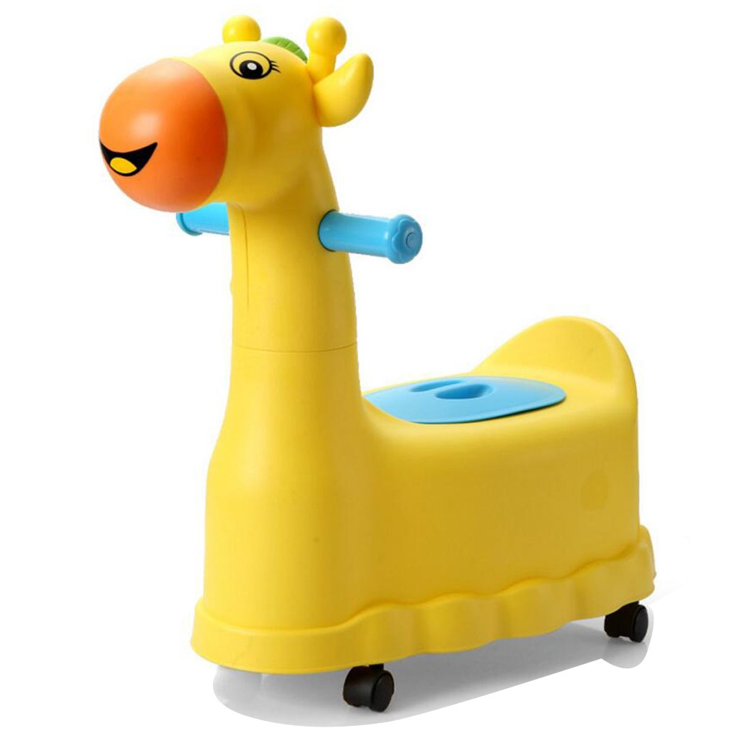 JUNBOSI Baby Toddler Potty 0-6 Years Old Baby Training Easy To Carry Child Toilet Cute Deer Children Potty & My Potty Toy Friend Infant Neutral Potty (Color : Yellow)