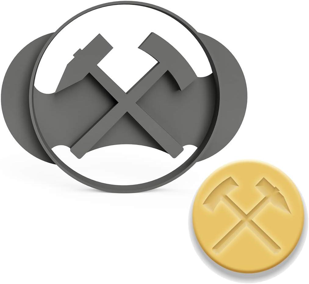 3DREAMS - Cortador de Galletas con símbolo de minería, mazo y ...