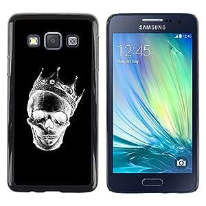 """For Samsung Galaxy A3 Case , Corona Negro Blanco Cráneo de la muerte de la roca"""" - Diseño Patrón Teléfono Caso Cubierta Case Bumper Duro Protección Case Cover Funda"""
