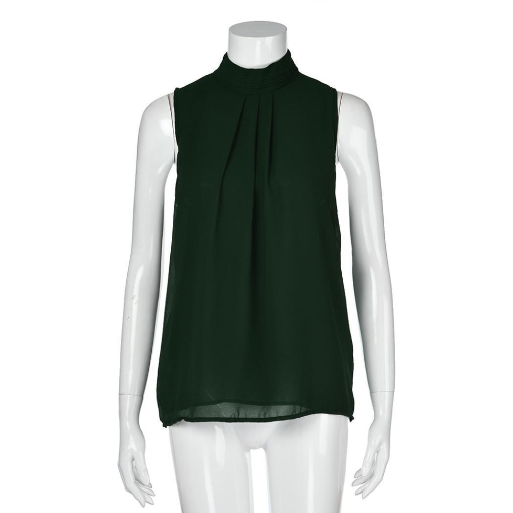 fa10c52d11b581 TIFIY Womens Lose ärmellose Chiffon Bluse Weste Damen Sommer Cool Freizeit T -Shirt Trägershirt: Amazon.de: Bekleidung
