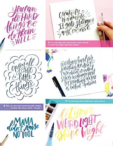 Super Simple Hand Lettering: 20 Traceable Alphabets, Easy Projects, Practice Sheets & More! (Design Originals) Includes Technique Guides, Skill-Building Exercises, Art Prints, & Vellum Tracing Paper by Design Originals (Image #3)