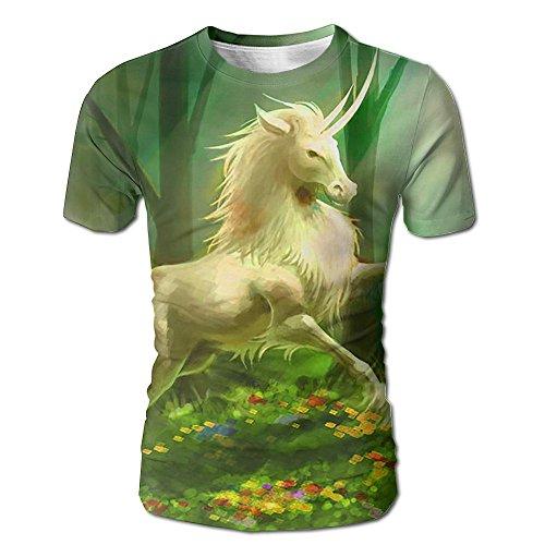 Unicorn Bring Spring Men Casual Short Sleeve T-Shirts Graphic Crew Neck (German Shorthaired Pointer Umbrella)