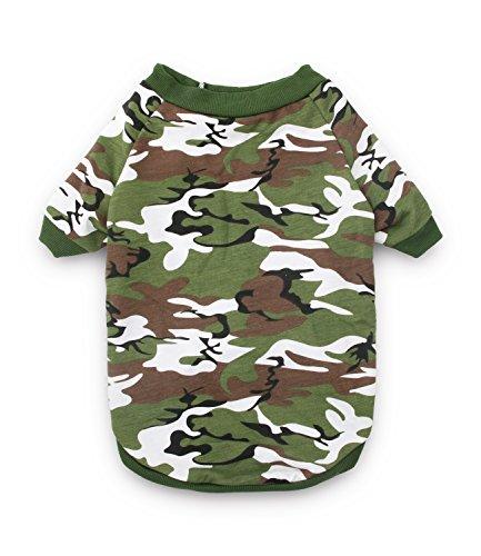 DroolingDog Large Dog Tee Shirt Camo Clothes Big Pet T Shirt XXXXL Dog Clothes for Large Dogs Boy, XXXXL, Army Green