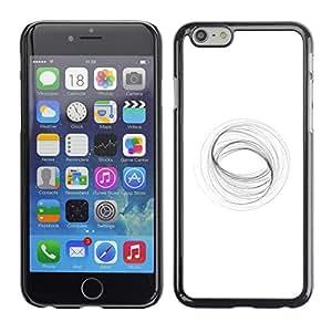 Shell-Star Arte & diseño plástico duro Fundas Cover Cubre Hard Case Cover para Apple iPhone 6(4.7 inches) ( Abstract Vortex Mathematics White )