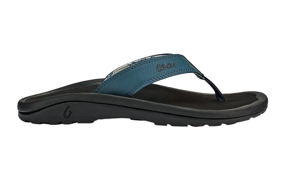 OLUKAI Ohana Slipper - Men's Stormy Blue/Black 7 by OLUKAI