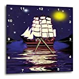 3dRose dpp_6675_3 A Nautical Dream-SmudgeArt Ship Art-Wall Clock, 15 by 15-Inch For Sale